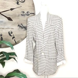 Toni Garment for CC Magic. Plaid. Black & white.